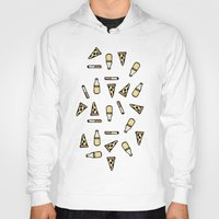 cigarettes Hoodies featuring PIZZA, BEER, CIGARETTES by STUPIDGUMMIDREAMS