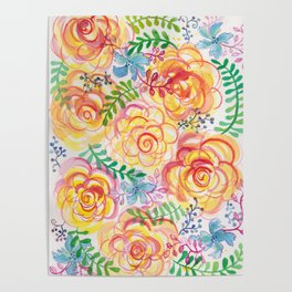 Sunshine and Roses Poster