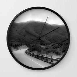 HAZY BENDS Wall Clock