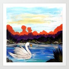 Swan Life Art Print