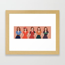 Peggy Carter Framed Art Print
