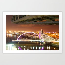 Jib & Clyde Arc Bridge. Art Print