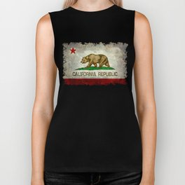 California Republic state flag Vintage Biker Tank