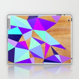 Wooden Geo Purple Laptop & iPad Skin