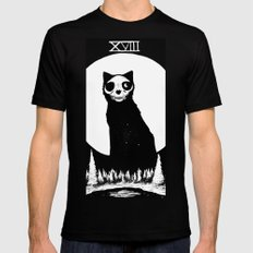 XVIII - The Moon Mens Fitted Tee LARGE Black