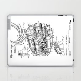 Jet Engine: Frank Whittle Turbojet Engine Patent Laptop & iPad Skin
