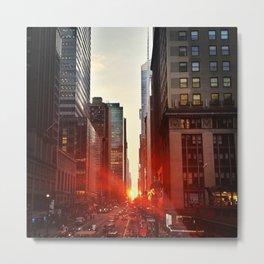 Manhattan Sunset (NYC Street Photography) Metal Print