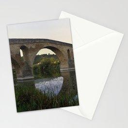 Medieval Bridge - Puente la Reina, Camino to Santiago de Compostela Stationery Cards