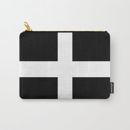 Saint Piran's Flag of Cornwall UK Carry-All Pouch