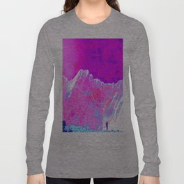 Alpenglow in Violet Long Sleeve T-shirt