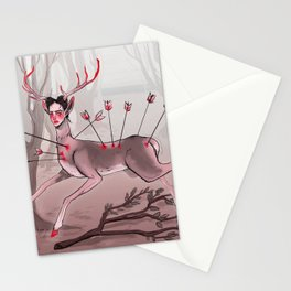 The Wounded Deer Stationery Cards