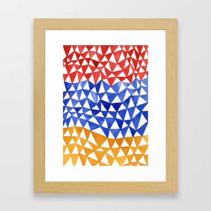 Happy Triangles Framed Art Print