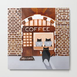 The Coffee Shop Metal Print