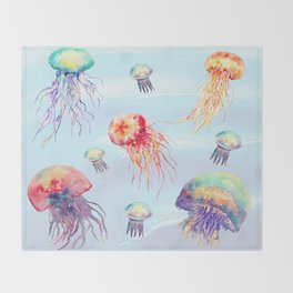 Jelly Fish  Throw Blanket