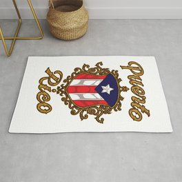 Puerto Rico Emblem - Puerto Rican Pride Flag Rug