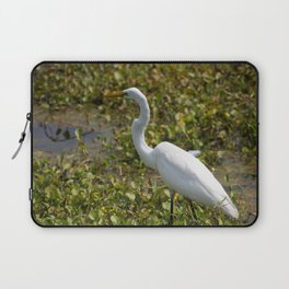 Great Egret on the Prowl Laptop Sleeve