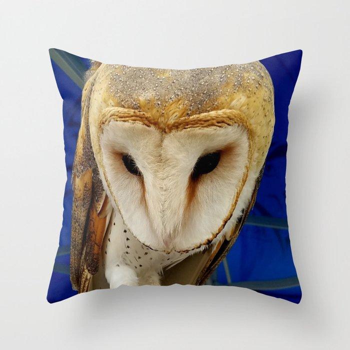 Mr Owl The Barn Owl Throw Pillow By Newmanart Society6