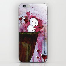 Fishing for hearts iPhone Skin