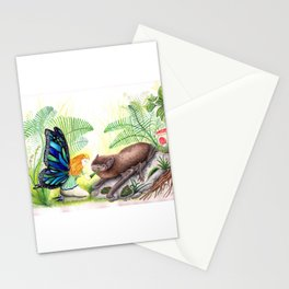 The fairy and the bat Stationery Cards