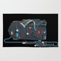 ghostbusters Area & Throw Rugs featuring Proton pack, Ghostbusters by Staermose