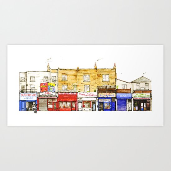 Chalk Farm Road 56-51A/Camden, London Art Print