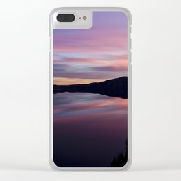 Crater Lake at Sunrise Clear iPhone Case
