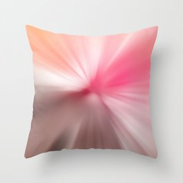Peach Pink Blurr Abstract Design Throw Pillow