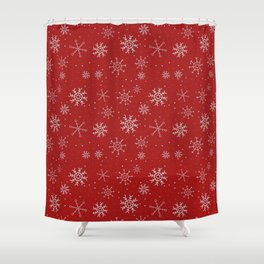 New Year Christmas winter holidays cute pattern Shower Curtain