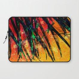 Palm Frond + Beyond [fire] Laptop Sleeve