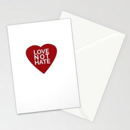 Love Not Hate Stationery Cards