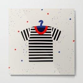 Striped T-shirt Metal Print