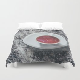 COFFEE PORTAL TO THE UNIVERSE Duvet Cover