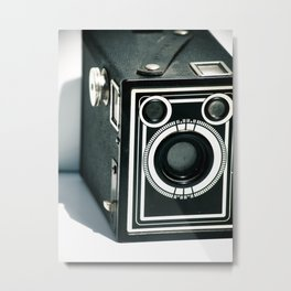 Vintage 1940's Sears S-20 Box Camera Photography  Metal Print