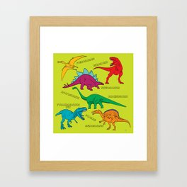 Dinosaur Print - Colors Framed Art Print