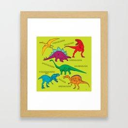 Dinosaur Print - Colors Framed Art Print