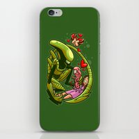 xenomorph iPhone & iPod Skins featuring Family by Artistic Dyslexia