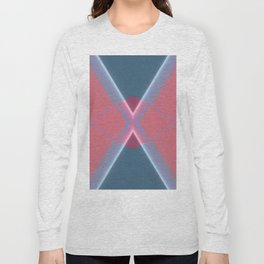 Pastel V X Abstract Pattern Design Long Sleeve T-shirt