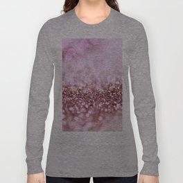 Pink Sparkle shiny glitter effect print - Sparkle Valentine Backdrop Long Sleeve T-shirt