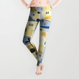 Morning Middle Eastern Town Watercolor Leggings