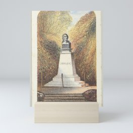 Bust of Schiller, from the series, Views in Central Park, New York, Part 3,1864 Mini Art Print