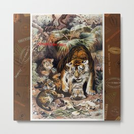 Tigers for Responsible Travel Metal Print