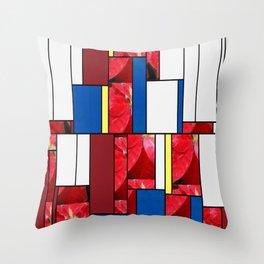 Mottled Red Poinsettia 2 Art Rectangles 4 Throw Pillow