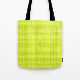 Fresh Lime Grid Tote Bag