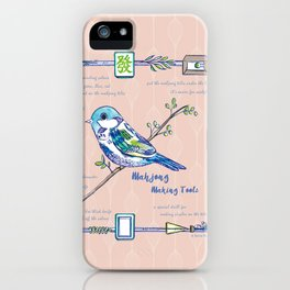 Lovely Sparrow - Mahjong iPhone Case