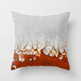 Rust and Grey Throw Pillow