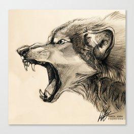 Wolf Snarl Canvas Print