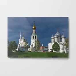Landscape with the Ancient Saint Sophia Cathedral and Vologda Kremlin in the Russian North Metal Print