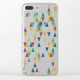 Colossal-Abstract-Triangles Clear iPhone Case