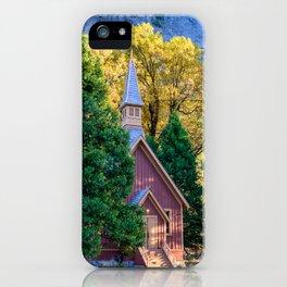 Yosemite Valley Chapel I - National Park, California iPhone Case