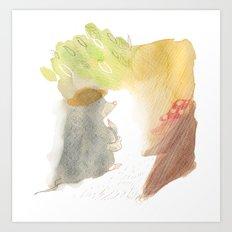 Mole in woods Art Print